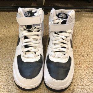 Nike Shoes - Nike iD Air Force one black and white